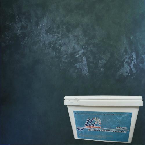 Тонкослойное декоративное покрытие Мраморикс Нано Велюр Черный