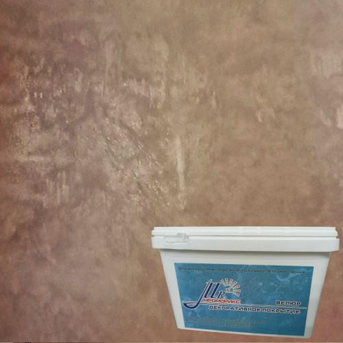 Тонкослойное декоративное покрытие Мраморикс Нано Велюр Молочный шоколад