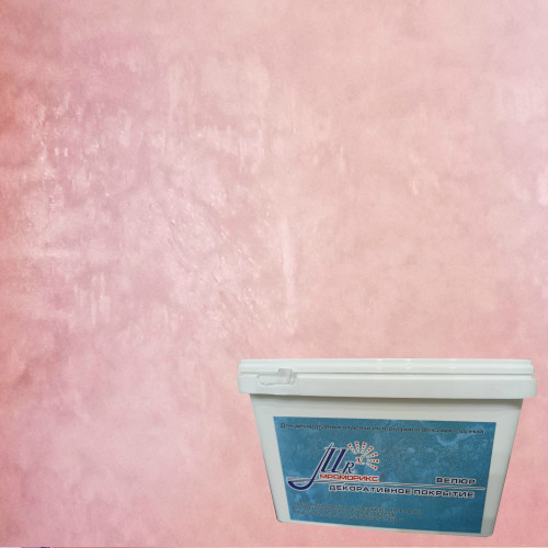 Тонкослойное декоративное покрытие Мраморикс Нано Велюр Роза