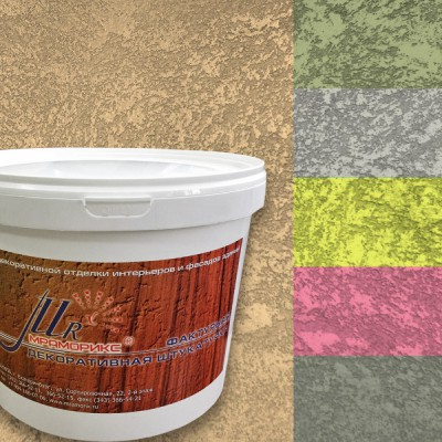 Фактурная декоративная штукатурка Абстракт-2000 Песчаный ветер, колерованная