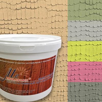 Фактурная декоративная штукатурка Абстракт-1000 Кожа, колерованная