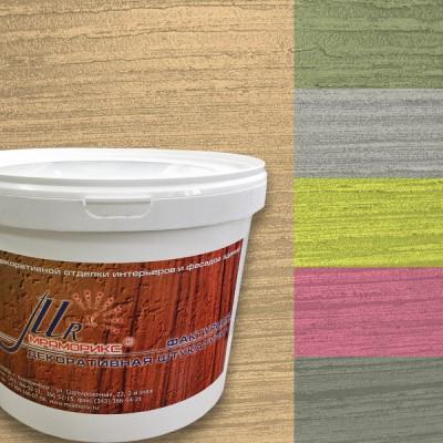 Фактурная декоративная штукатурка Абстракт-1000 Дерево, колерованная